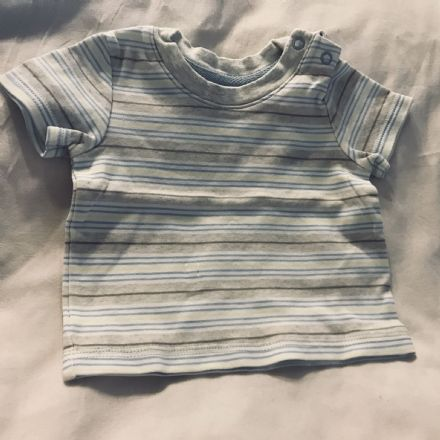 0-3 Month Lemon and Blue Stripe Tee